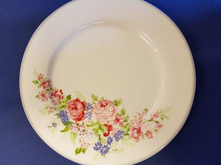 Greengate- Middagstallerken Rose white