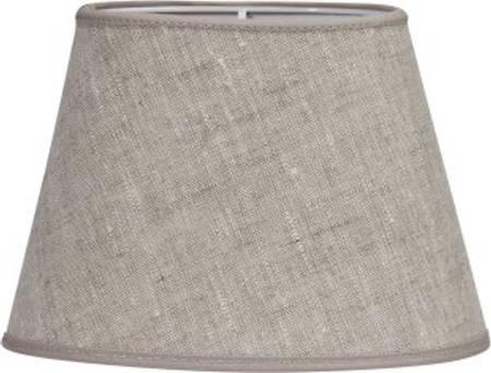 Lampeskjerm oval lin 25 cm