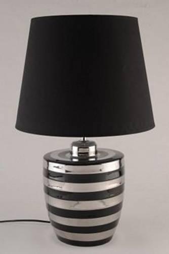Bordlampe sort og sølv M