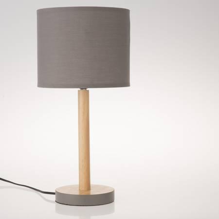 Lampe m/ grå skjerm